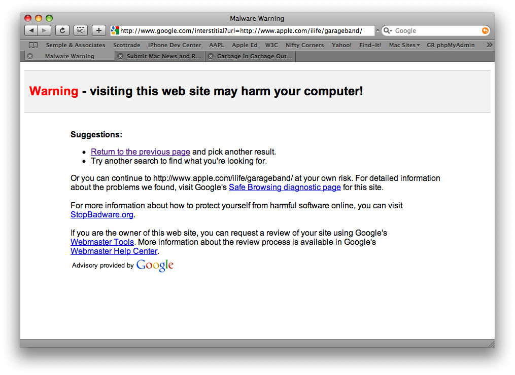 "Having been flagged as ""harmful"", even might Apple Inc. can avoid the overarching reach of Google's misstep."